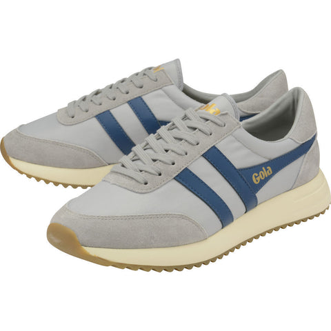 Gola Men's Montreal Sneakers | Light Grey/Marine Blue