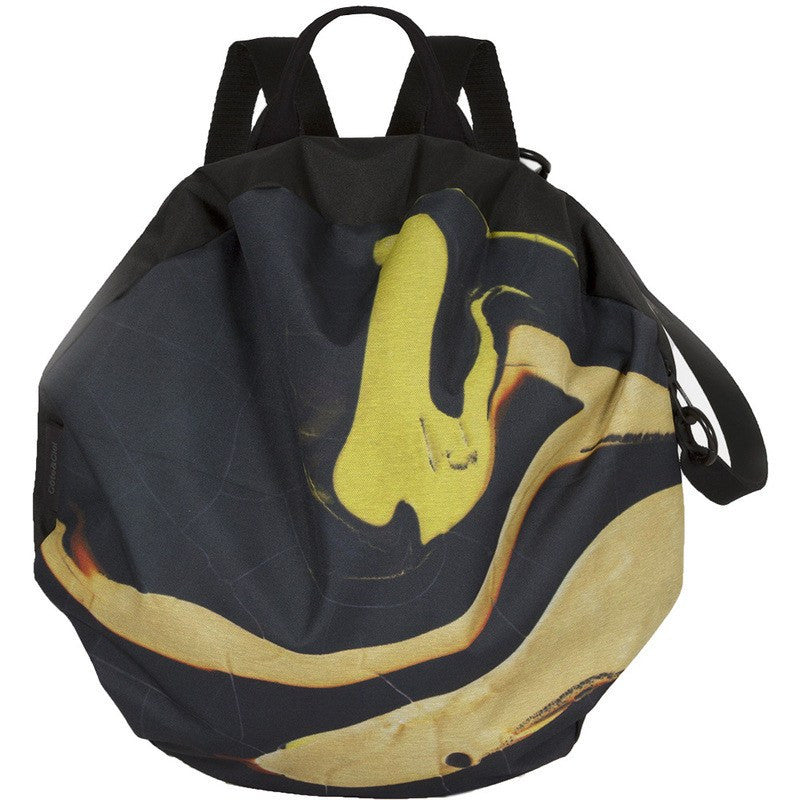 Cote et Ciel Moselle Whorl Eco Yarn Backpack | Ink/Sulphurous Yellow