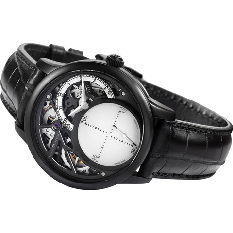 Maurice Lacroix Masterpiece Mysterious Seconds 43mm Watch | White/Black MP6558-PVB01-090