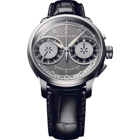 Maurice Lacroix Masterpiece Chronograph 45mm Watch | Grey/Black MP7128-SS001-320