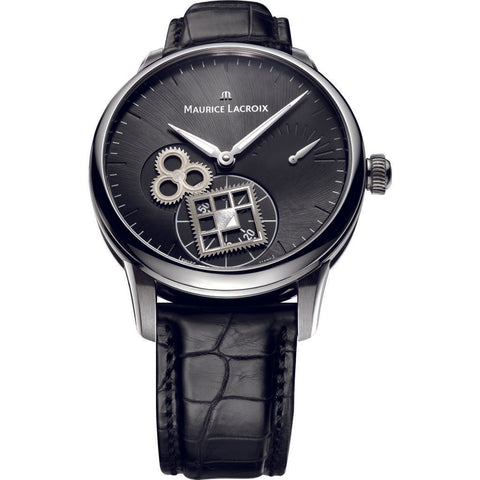 Maurice Lacroix Masterpiece Roue Carree 43mm Watch | Black MP7158-SS001-900