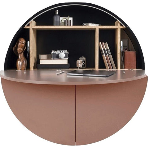 EMKO Multifunctional Pill Cabinet/Desk | Black/Pink-MPBPink