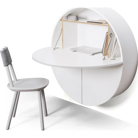 EMKO Multifunctional Pill Cabinet/Desk | White/White