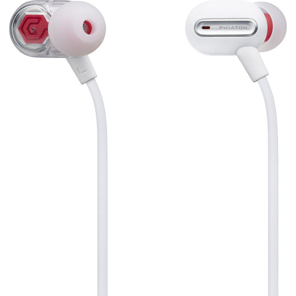 Phiaton Hybrid Dual Driver In-Ear Headphones | MS300 BA White MS300BAWHITE