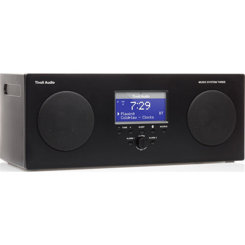 Tivoli Audio Music System Three Speaker Radio | Black MSY3BLK