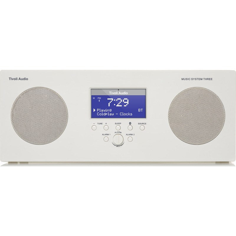 Tivoli Audio Music System Three Speaker Radio | White MSY3WHT