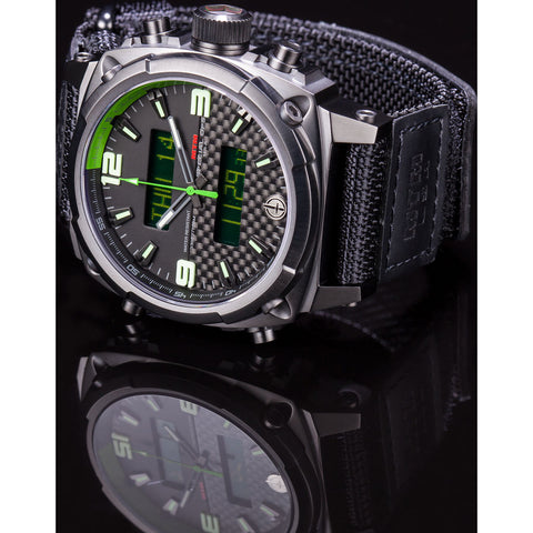MTM Special Ops Airstryk II Watch | Black Titanium/Carbon Green/Nylon Green