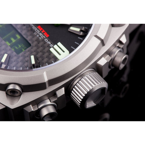 MTM Special Ops Airstryk II Watch | Gray Titanium/Carbon Lumi/Black Rubber II