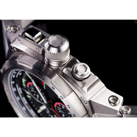 MTM Special Ops Cobra 44 Watch | Silver Titanium/Black/Titanium Band