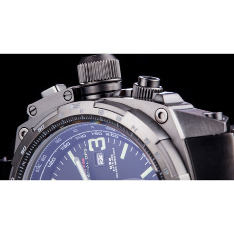 MTM Special Ops Cobra 44 Watch | Silver Titanium/Tan/Gray Nylon