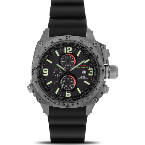 MTM Special Ops Cobra Watch | Gray Titanium/Black/Black Rubber 1