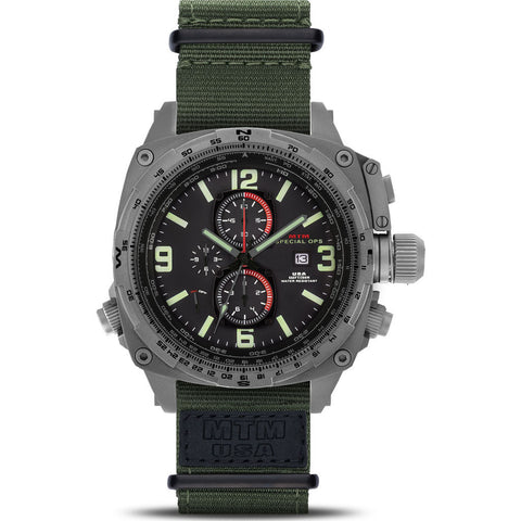 MTM Special Ops Cobra Watch | Gray Titanium/Black/Nylon Green