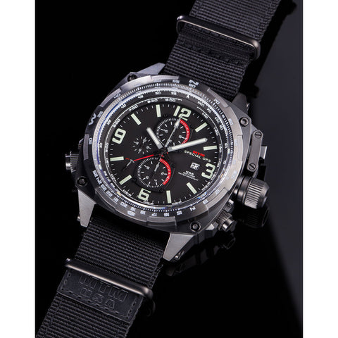 MTM Special Ops Cobra Watch | Black Titanium/Black/Black Nylon