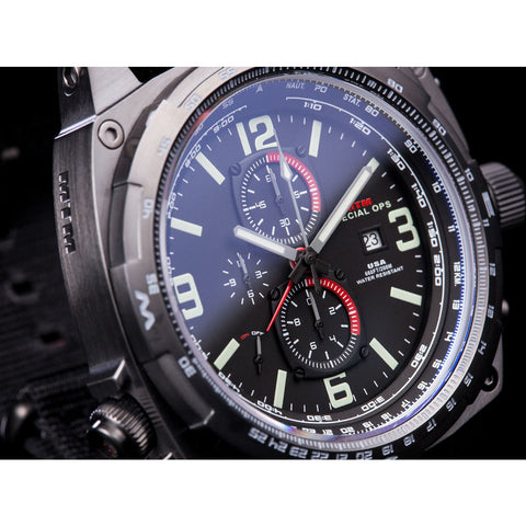 MTM Special Ops Cobra Watch | Black Titanium/Black/Gray Nylon