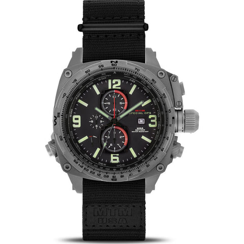 MTM Special Ops Cobra 44 Watch | Gray Titanium/Black/Black Nylon