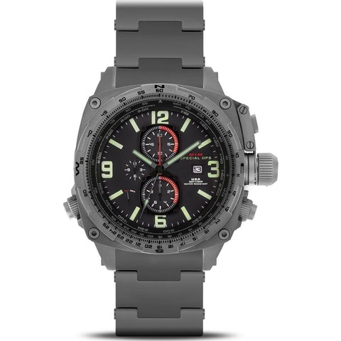 MTM Special Ops Cobra Watch | Gray Titanium/Black/Titanium Band