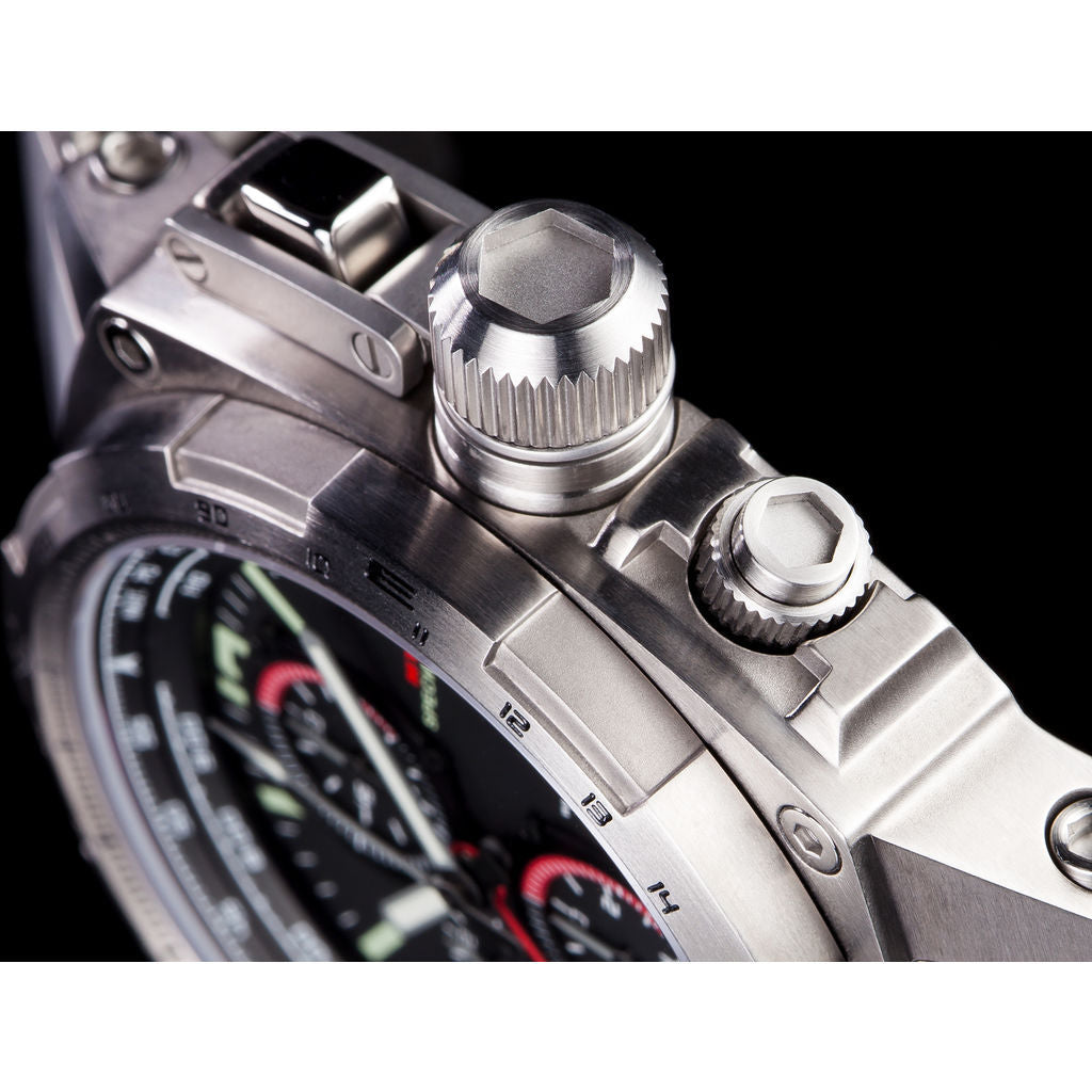 MTM Special Ops Cobra Watch | Silver Titanium/Black/Titanium Band