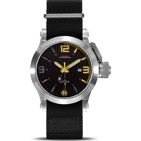 MTM Special Ops Hypertec 44 Watch | Silver/Gold/Black Nylon