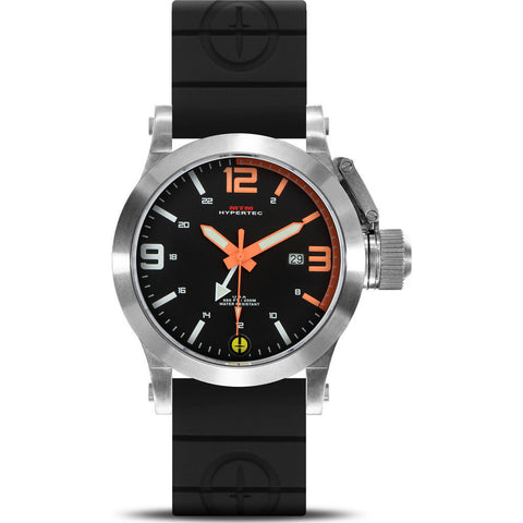 MTM Special Ops Hypertec 44 Watch | Silver/Neon Orange/Black Rubber II