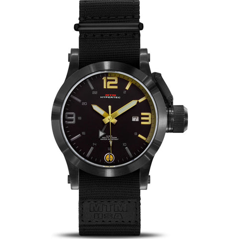 MTM Special Ops Hypertec 49 Watch | Black/Gold/Black Nylon