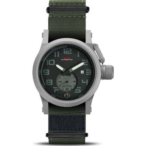 MTM Special Ops Hypertec Chronograph Watch | Gray/Black-Gray/Green Nylon