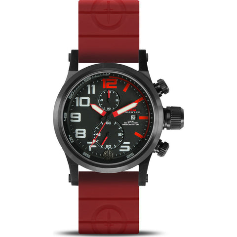 MTM Special Ops Hypertec Chronograph Watch | Black/Red/Red Rubber