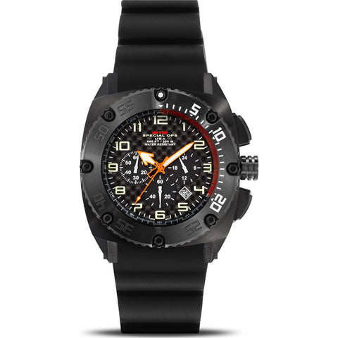 MTM Special Ops Patriot Watch | Black Steel/Black/Black Rubber I