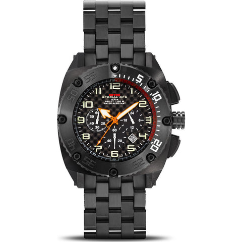 MTM Special Ops Patriot Watch | Black Titanium/Black