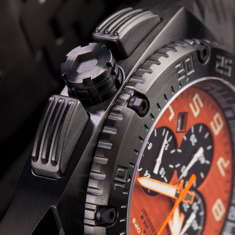 MTM Special Ops Patriot Watch | Black Titanium/Orange