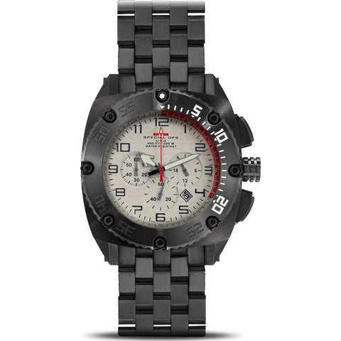 MTM Special Ops Patriot Watch | Black Titanium/Tan