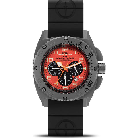 MTM Special Ops Patriot Watch | Gray Titanium/Orange/Black Rubber II
