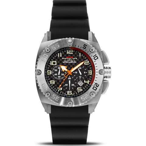 MTM Special Ops Patriot Watch | Silver Steel/Black/Black Rubber I