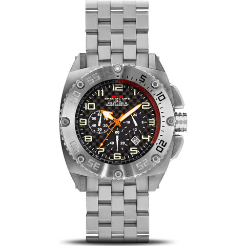 MTM Special Ops Patriot Watch | Silver Titanium/Black