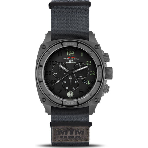 MTM Special Ops Predator II Watch | Gray Titanium/Black -Lumi/Gray Nylon