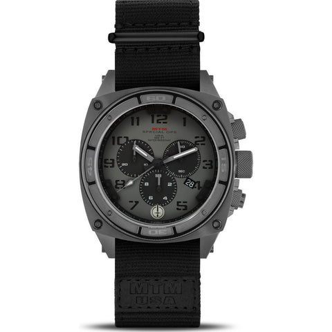 MTM Special Ops Predator II Watch | Gray Titanium/Gray P/Black Nylon