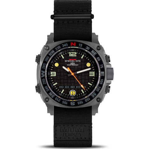 MTM Special Ops Silencer Watch | Gray Steel/Nylon Black