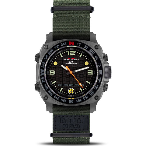 MTM Special Ops Silencer Watch | Gray Steel/Nylon Green