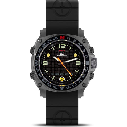 MTM Special Ops Silencer Watch | Gray Steel/Black Rubber II