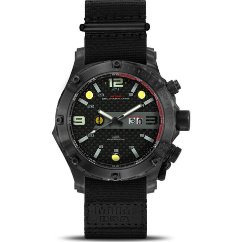 MTM Special Ops Vulture Watch | Black Titanium/Gray/Nylon Black
