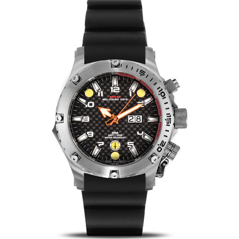 MTM Special Ops Vulture Watch | Silver Titanium/Black/Black Rubber I