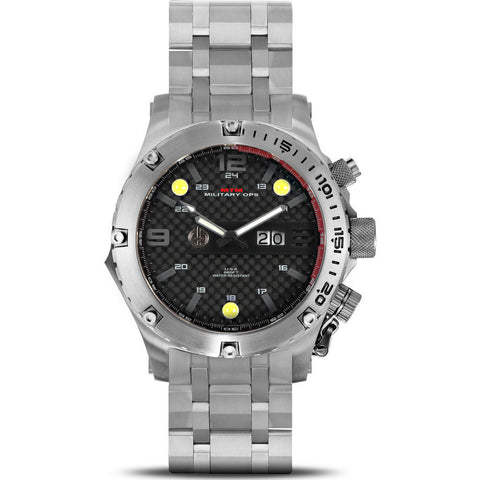 MTM Special Ops Vulture Watch | Silver Titanium/Black/Titanium Band