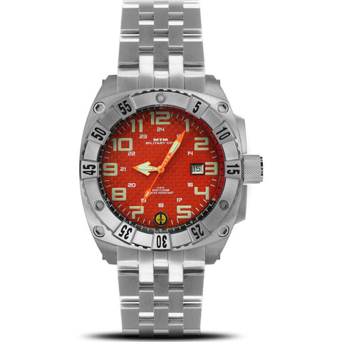 MTM Special Ops Warrior Watch | Silver Titanium/Orange