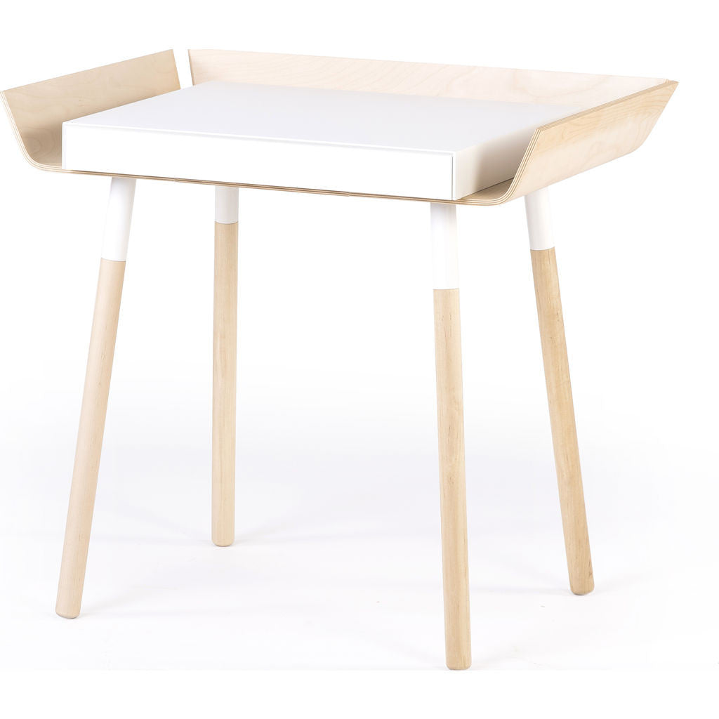 EMKO My Writing Desk w/ 1 Drawer | White/Birch