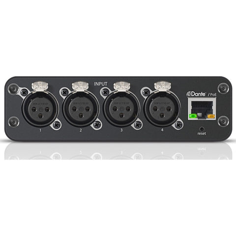 Shure ANI4IN XLR Audio Network Interface with PEQ and Audio Summing