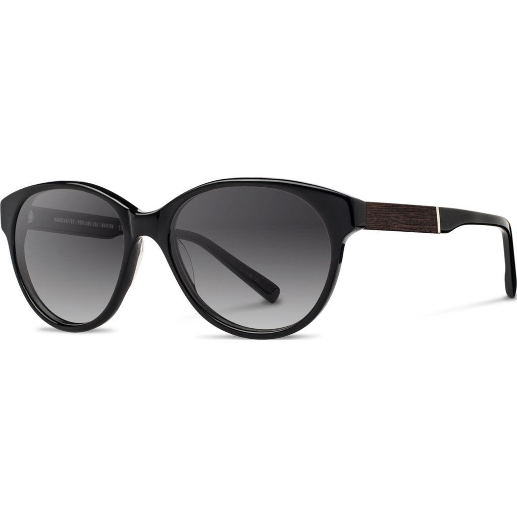 Shwood Madison Acetate Sunglasses | Black & Ebony / Grey Fade Polarized WWAMBEBG2P