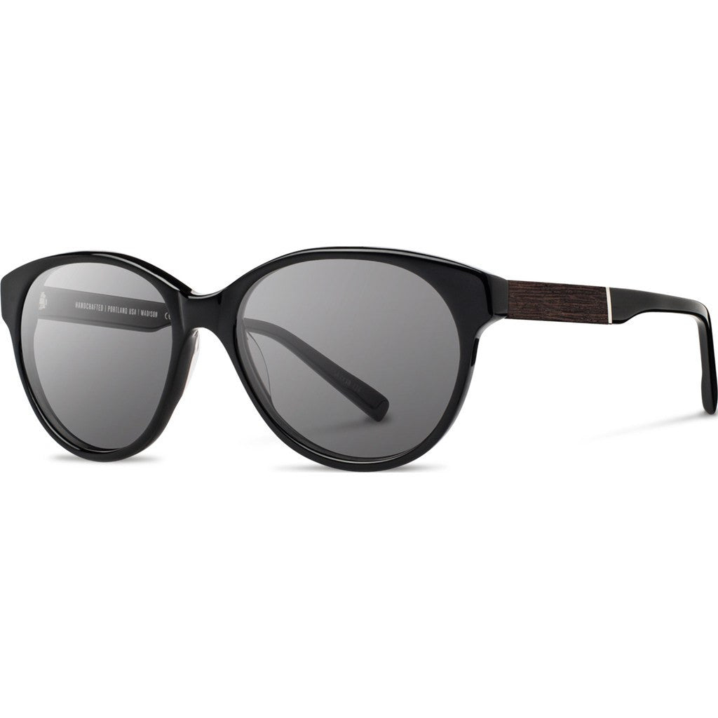 Shwood Madison Acetate Sunglasses | Black & Ebony / Grey WWAMBEBG