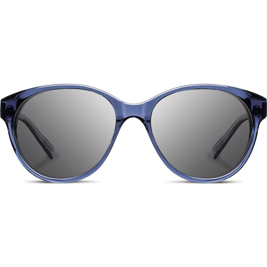 Shwood Madison Acetate Sunglasses | Blue Crystal & Ebony / Grey WWAMB2EBG