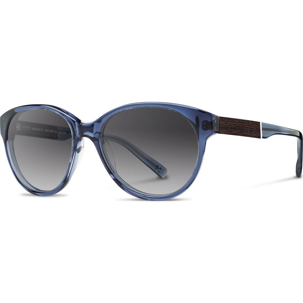 Shwood Madison Acetate Sunglasses | Blue Crystal & Ebony / Grey Fade Polarized WWAMB2EBG2P