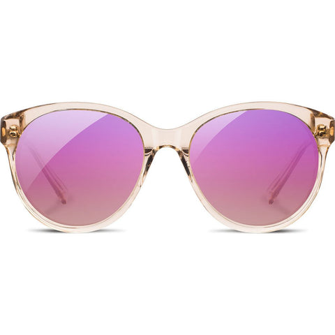 Shwood Madison Acetate Sunglasses | Champagne/Ebony - Rose Flash Polarized WWAMCEBR3P