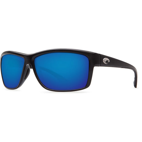 Costa Mag Bay Shiny Black Men's Sunglasses | Blue Mirror 580P